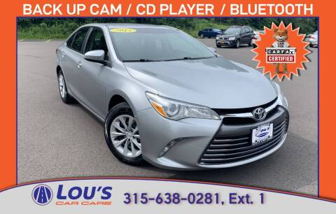 2015 Toyota Camry for sale at LOU'S CAR CARE CENTER in Baldwinsville NY
