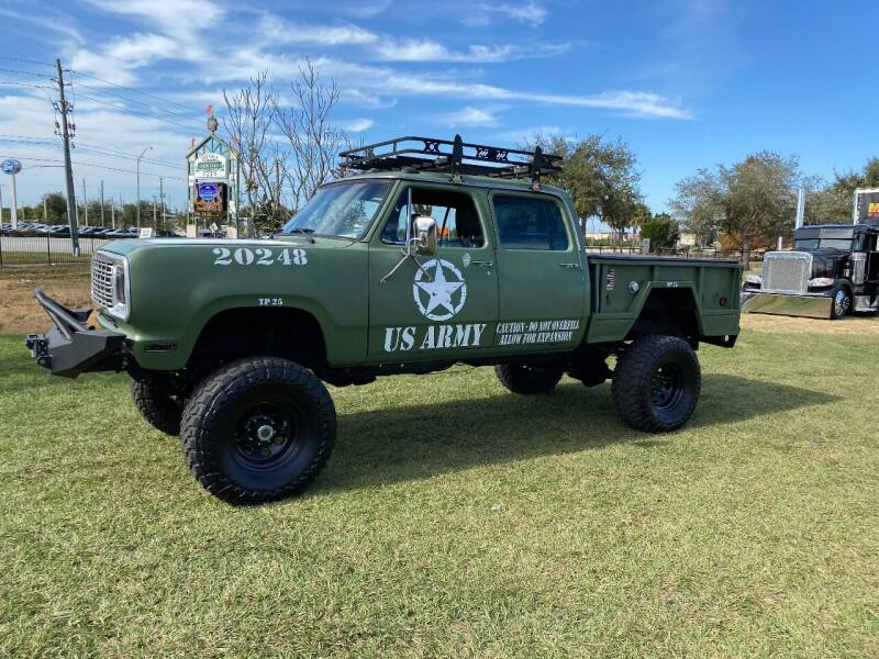 1975 Dodge Power wagon for sale at BIG BOY DIESELS in Ft Lauderdale FL