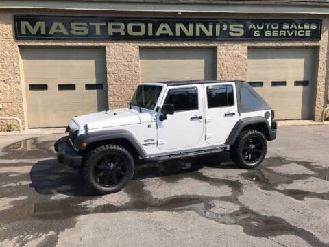 2015 Jeep Wrangler Unlimited for sale at Mastroianni Auto Sales in Palmer MA