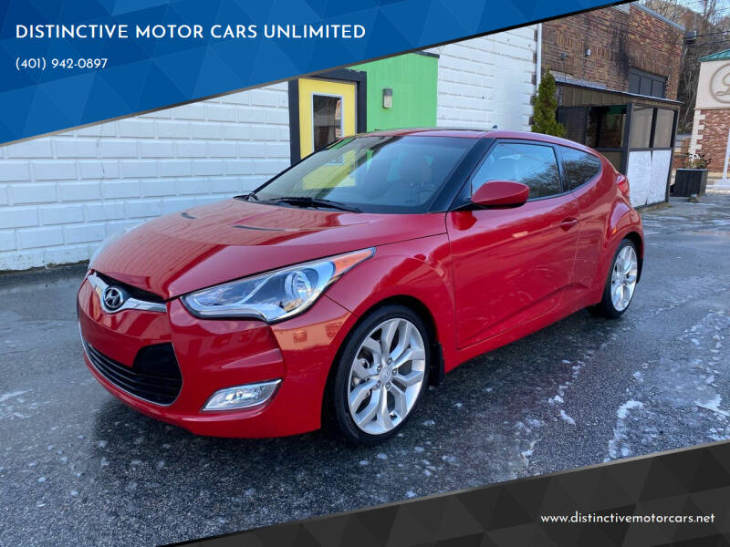 2013 Hyundai Veloster for sale at DISTINCTIVE MOTOR CARS UNLIMITED in Johnston RI