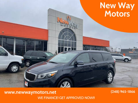 2017 Kia Sedona for sale at New Way Motors in Ferndale MI