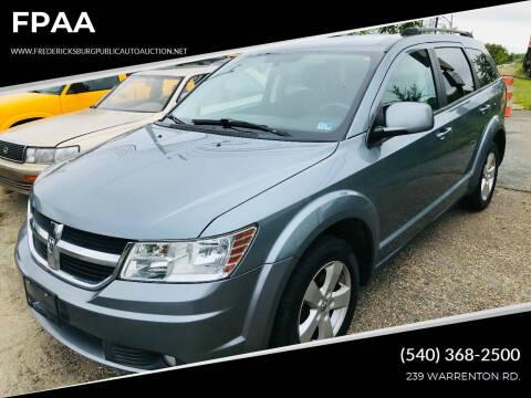 2010 Dodge Journey for sale at FPAA in Fredericksburg VA