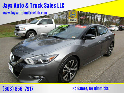2016 Nissan Maxima for sale at Jays Auto & Truck Sales LLC in Loudon NH