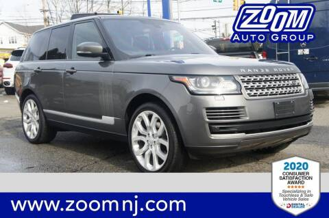 2016 Land Rover Range Rover for sale at Zoom Auto Group in Parsippany NJ