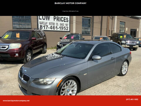 2009 BMW 3 Series for sale at BARCLAY MOTOR COMPANY in Arlington TX