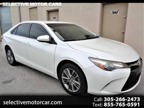 2017 Toyota Camry for sale at Selective Motor Cars in Miami FL