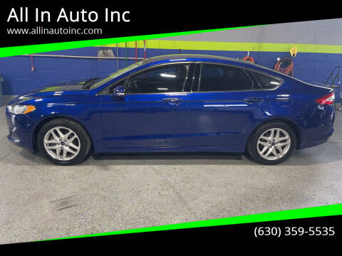 2013 Ford Fusion for sale at All In Auto Inc in Palatine IL