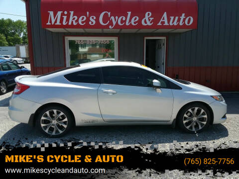 2012 Honda Civic for sale at MIKE'S CYCLE & AUTO in Connersville IN