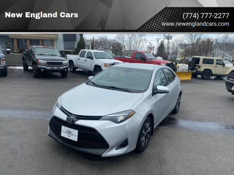 2017 Toyota Corolla for sale at New England Cars in Attleboro MA