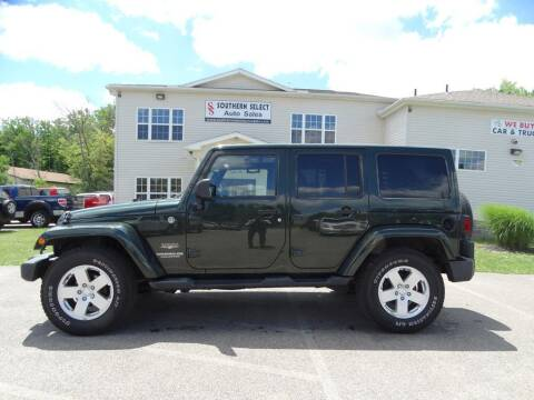 2011 Jeep Wrangler Unlimited for sale at SOUTHERN SELECT AUTO SALES in Medina OH