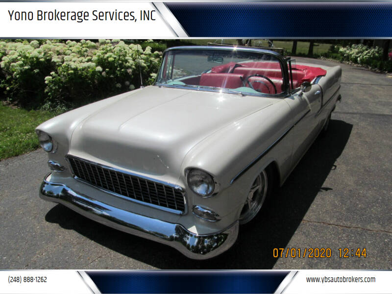 1955 Chevrolet Bel Air for sale at Yono Brokerage Services, INC in Farmington MI