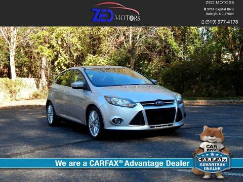 2013 Ford Focus for sale at Zed Motors in Raleigh NC