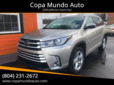 2016 Toyota Highlander for sale at Copa Mundo Auto in Richmond VA