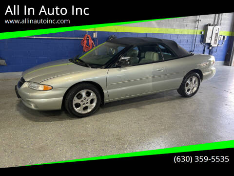2000 Chrysler Sebring for sale at All In Auto Inc in Addison IL