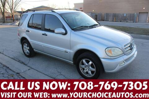 2004 Mercedes-Benz M-Class for sale at Your Choice Autos in Posen IL