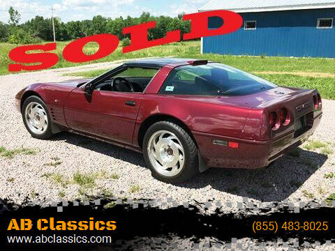 1993 Chevrolet Corvette for sale at AB Classics in Malone NY