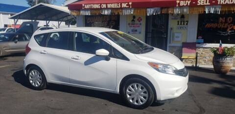 2015 Nissan Versa Note for sale at ANYTHING ON WHEELS INC in Deland FL