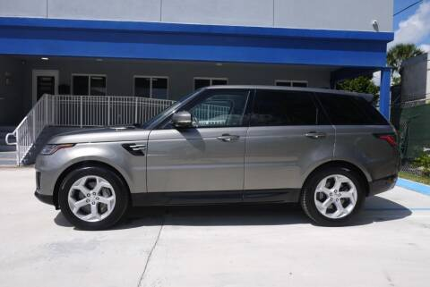 2018 Land Rover Range Rover Sport for sale at PERFORMANCE AUTO WHOLESALERS in Miami FL