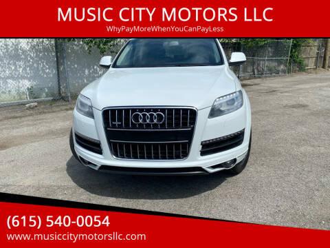 2013 Audi Q7 for sale at MUSIC CITY MOTORS LLC in Nashville TN