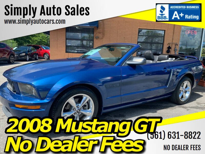 2008 Ford Mustang for sale at Simply Auto Sales in Palm Beach Gardens FL