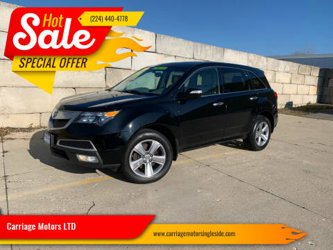 2012 Acura MDX for sale at Carriage Motors LTD in Ingleside IL