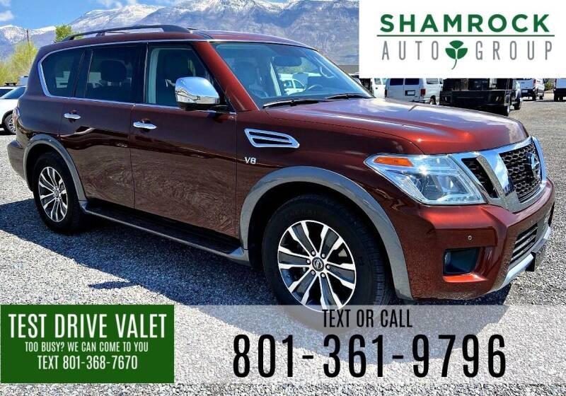 2018 Nissan Armada for sale at Shamrock Group LLC #1 in Pleasant Grove UT