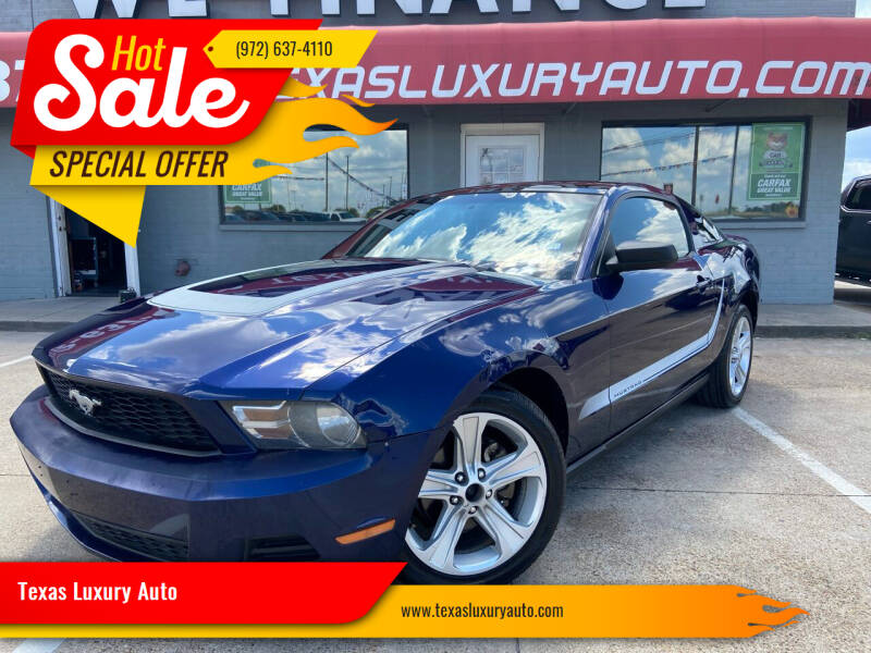 2010 Ford Mustang for sale at Texas Luxury Auto in Cedar Hill TX