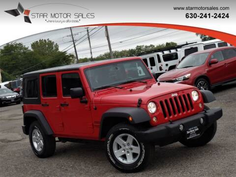 2017 Jeep Wrangler Unlimited for sale at Star Motor Sales in Downers Grove IL