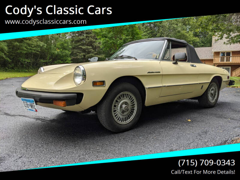 1979 Alfa Romeo Spider for sale at Cody's Classic Cars in Stanley WI