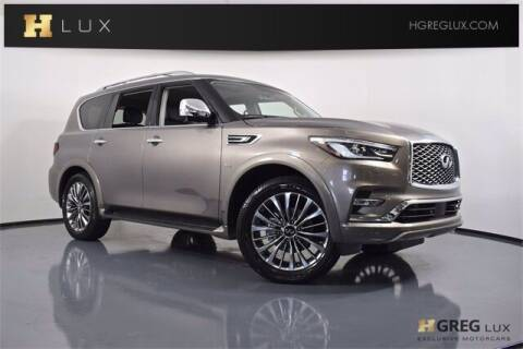 2018 Infiniti QX80 for sale at HGREG LUX EXCLUSIVE MOTORCARS in Pompano Beach FL