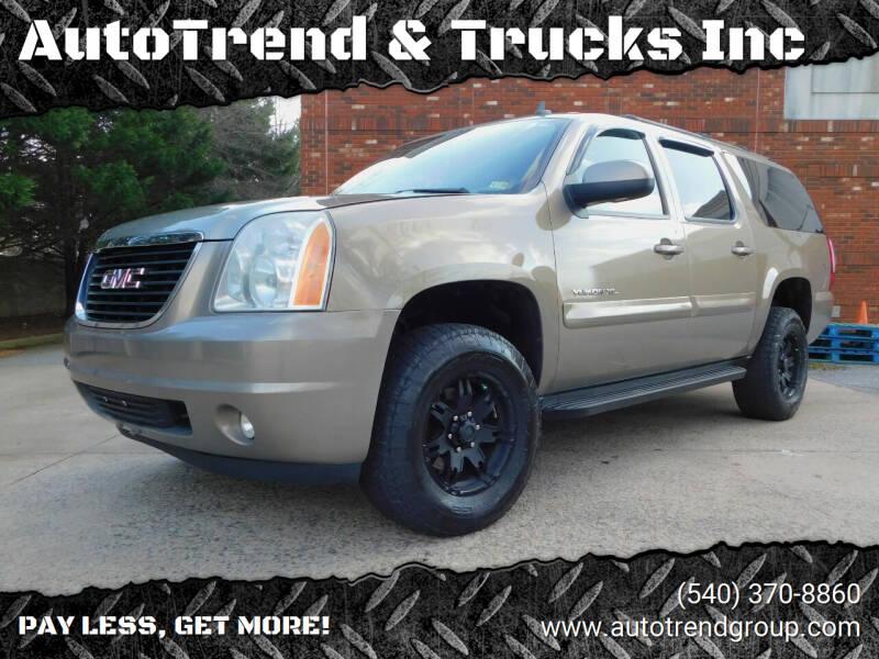 2007 GMC Yukon XL for sale at AutoTrend & Trucks Inc in Fredericksburg VA