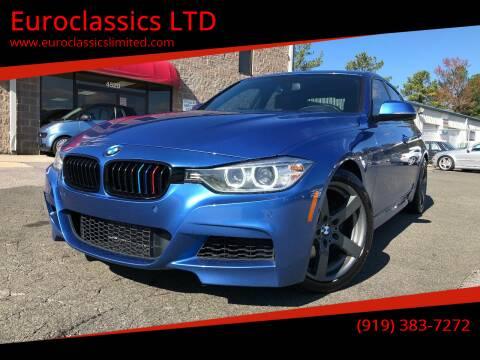 2013 BMW 3 Series for sale at Euroclassics LTD in Durham NC