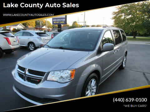2014 Dodge Grand Caravan for sale at Lake County Auto Sales in Painesville OH
