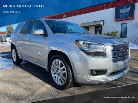 2015 GMC Acadia for sale at METRO AUTO SALES LLC in Blaine MN