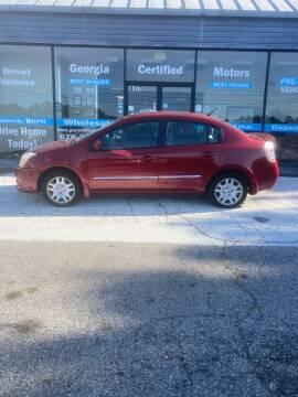 2012 Nissan Sentra for sale at Georgia Certified Motors in Stockbridge GA