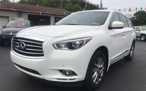 2013 Infiniti JX35 for sale at Baker Auto Sales in Northumberland PA