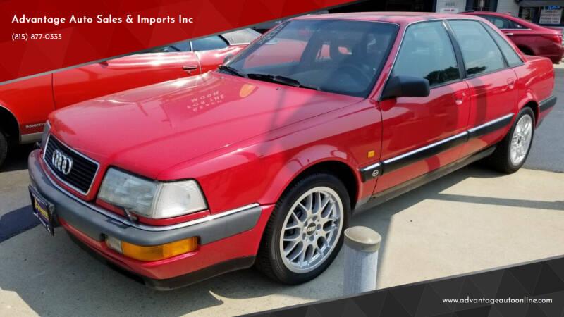 1990 Audi V8 for sale at Advantage Auto Sales & Imports Inc in Loves Park IL