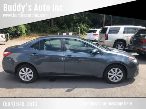 2016 Toyota Corolla for sale at Buddy's Auto Inc in Pendleton SC