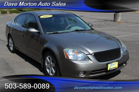 2003 Nissan Altima for sale at Dave Morton Auto Sales in Salem OR