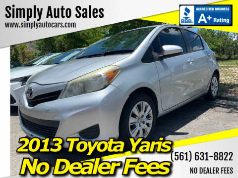 2013 Toyota Yaris for sale at Simply Auto Sales in Palm Beach Gardens FL
