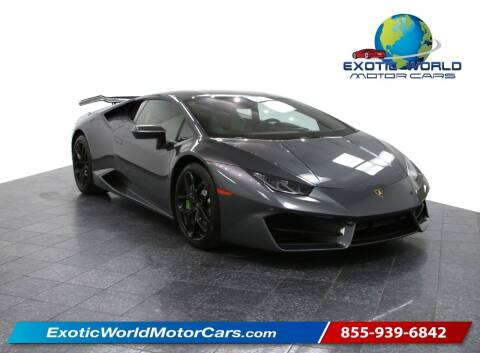 2018 Lamborghini Huracan for sale at Exotic World Motor Cars in Addison TX