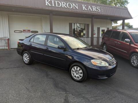 2003 Toyota Corolla for sale at Kidron Kars INC in Orrville OH