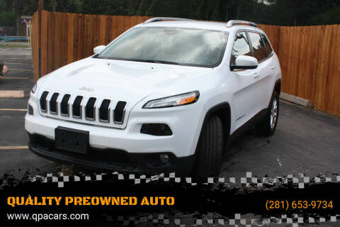 2017 Jeep Cherokee for sale at QUALITY PREOWNED AUTO in Houston TX