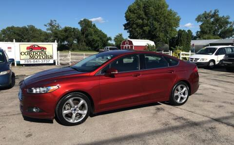2014 Ford Fusion for sale at Cordova Motors in Lawrence KS
