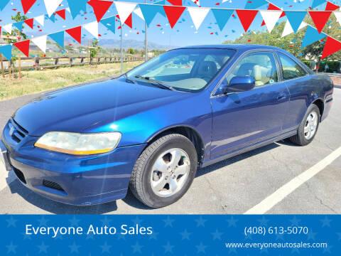 2001 Honda Accord for sale at Everyone Auto Sales in Santa Clara CA