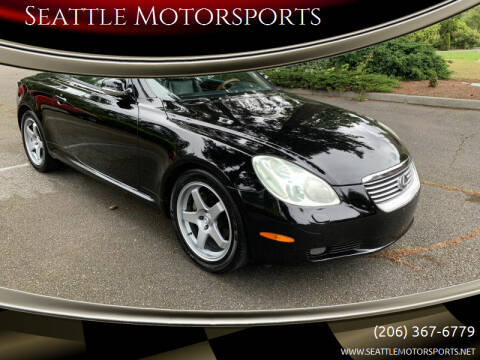 2002 Lexus SC 430 for sale at Seattle Motorsports in Shoreline WA