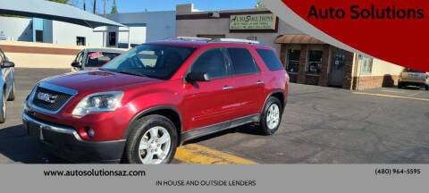 2010 GMC Acadia for sale at Auto Solutions in Mesa AZ