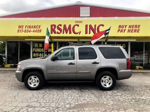 2008 Chevrolet Tahoe for sale at Ron Self Motor Company in Fort Worth TX