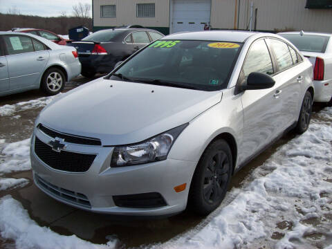 2014 Chevrolet Cruze for sale at Summit Auto Inc in Waterford PA
