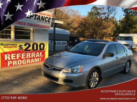 2007 Honda Accord for sale at Acceptance Auto Sales Douglasville in Douglasville GA